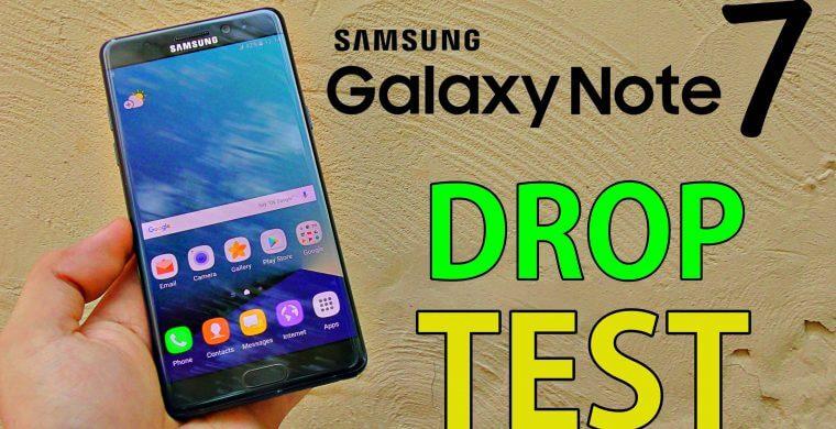galaxy note 7 drop test