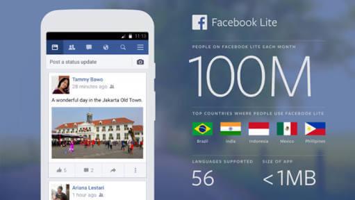 Photo of Facebook Lite 100 Milyon Kullanıcı Sayısına Ulaştı